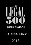 Legal 500 - leading firm 2016