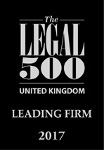 Legal 500 - leading firm 2017